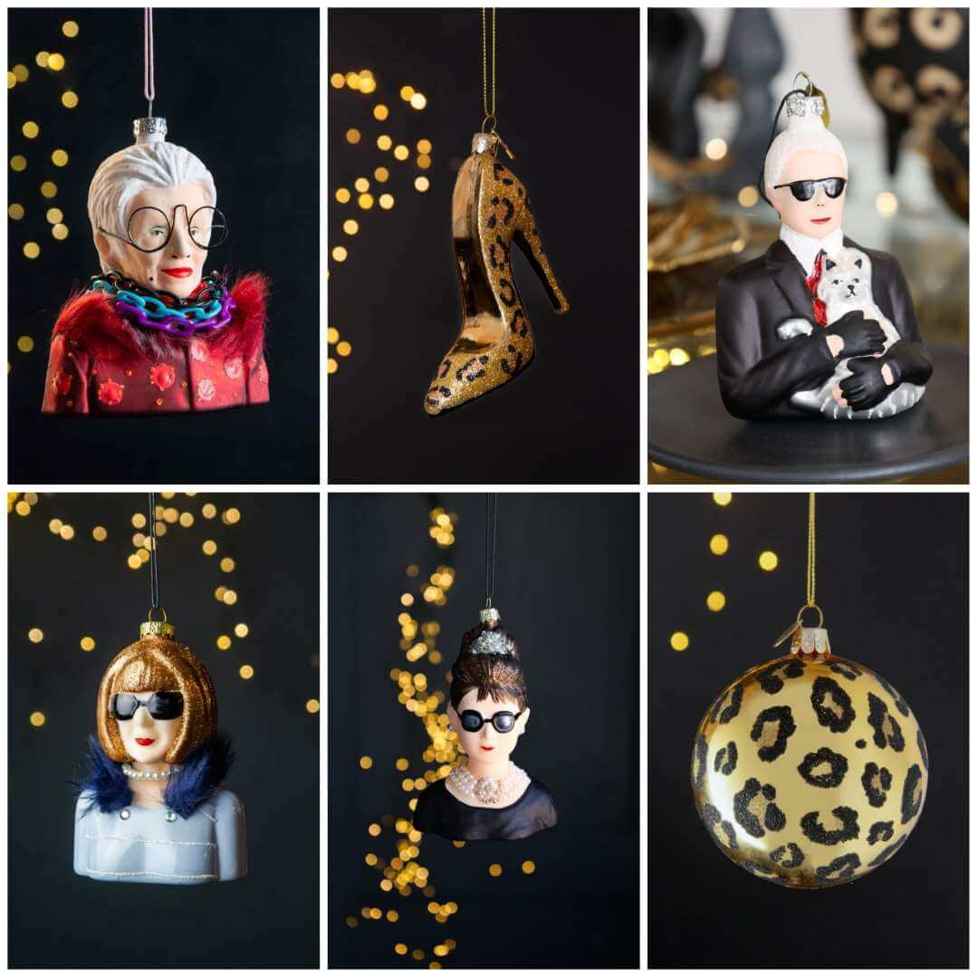 Fashion Inspired Christmas Decorations