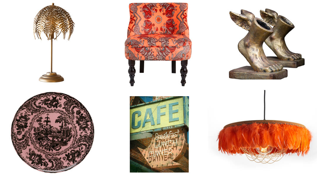 product images of bold and colourful furniture and accessories