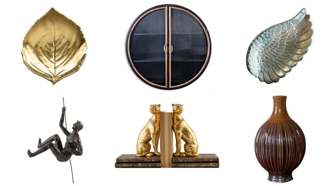 product images of quirky shelf styling accessories