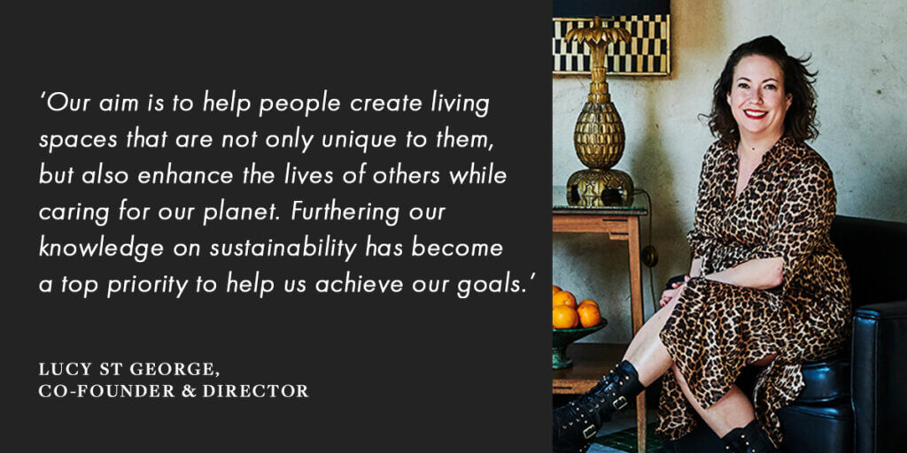 co-founder and director of Rockett St George, Lucy St George on sustainability