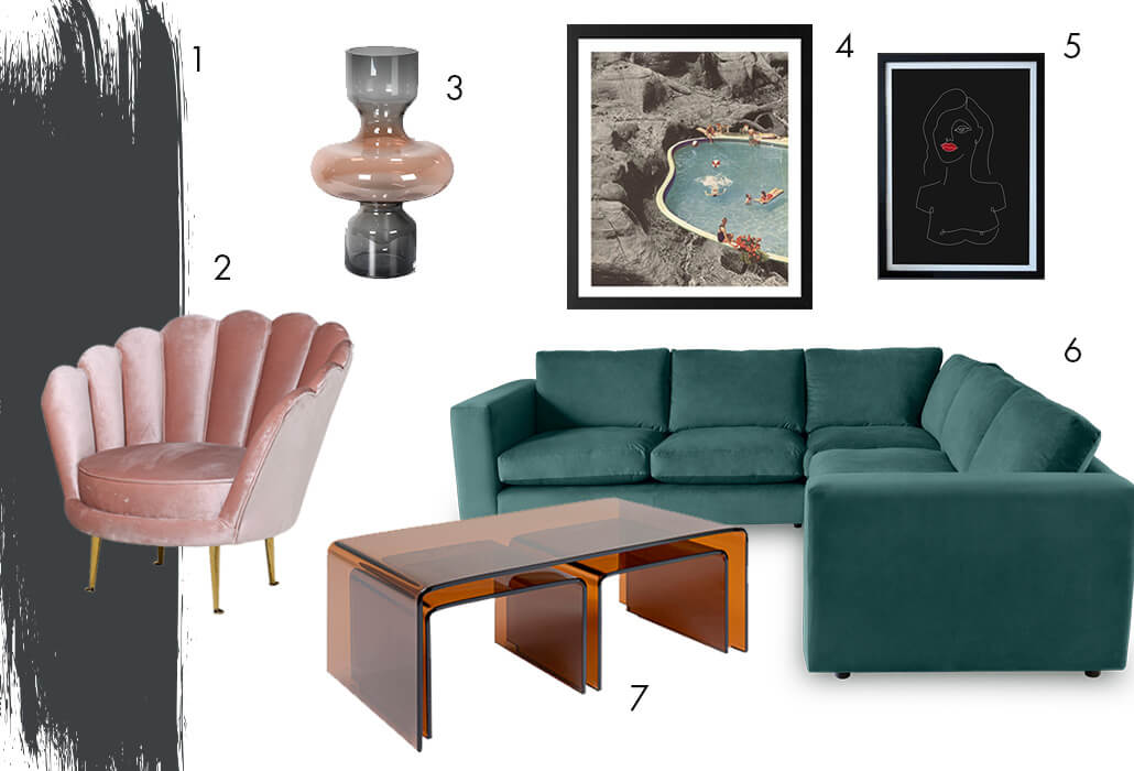 miley cyrus' living room - get the look featuring sofas, armchairs, paint and art prints.