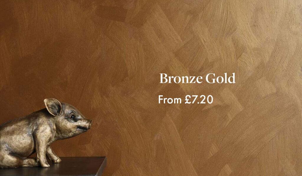 Craig & Rose Artisan Decorative Effect Paint - Bronze Gold £7.20