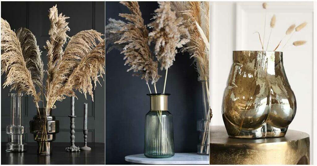 Image of three glass vases